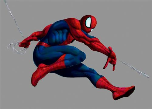 SPIDER MAN - AMAZING SWINGING SKETCH LIGHT GREY canvas print - self adhesive poster - photo print